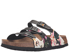 Birkenstock - Florida Soft Footbed - Birko-Flor (Painted Bloom Black Birko-Flor)