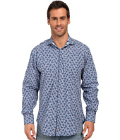 Thomas Dean & Co. - Cobalt Poplin Print Button Down Sport Shirt