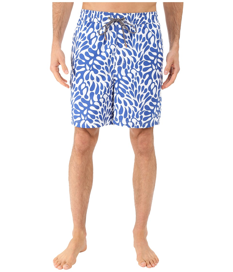 Thomas Dean amp Co. Hawaiian Print Board Short Royal Mens Swimwear