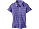 adidas Golf Kids Essential Cotton Hand Stripe Polo (Big Kids) (Blue/Baja Blue/Baja Blue Heathered)