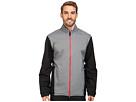 adidas Golf CLIMAPROOF Heather Stretch Full Zip Jacket (Vista Grey/Black)
