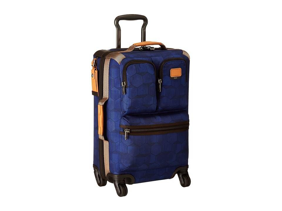 Tumi Alpha Bravo Kirtland International Expandable Carry On Blue Geo Print Carry on Luggage