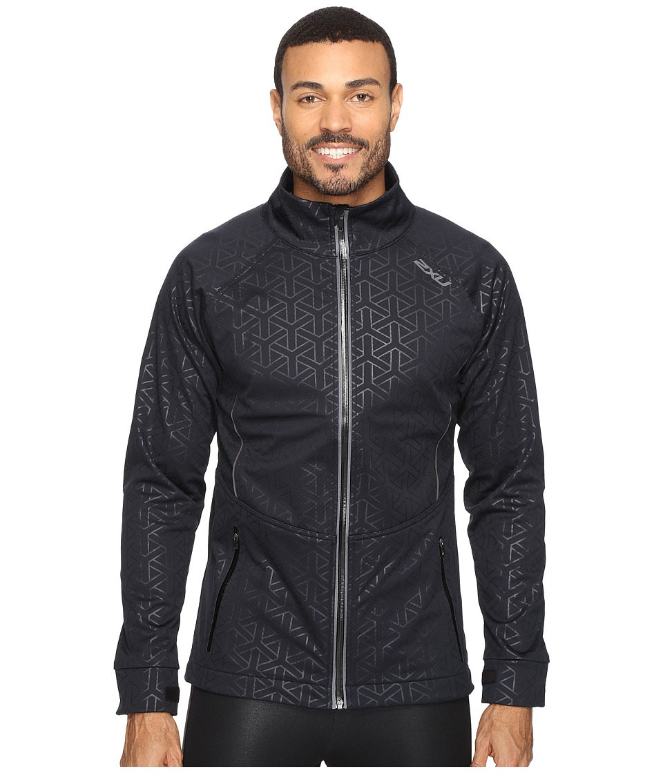 Image of 2XU - 23.5 N Jacket (Embossed Black Weave/Ombre Blue) Men's Coat