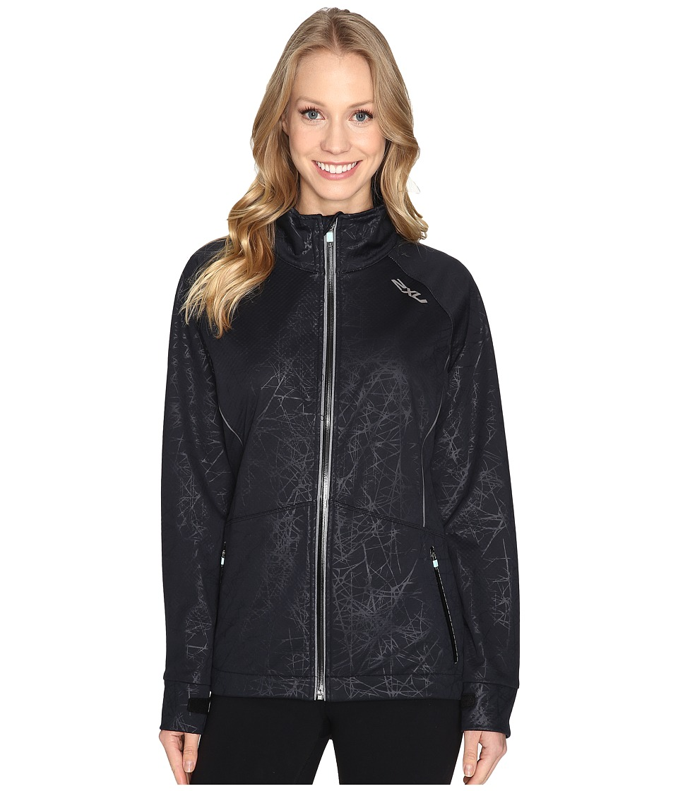 Image of 2XU - 23.5 N Jacket (Embossed Black Vein/Soft Cell) Women's Coat