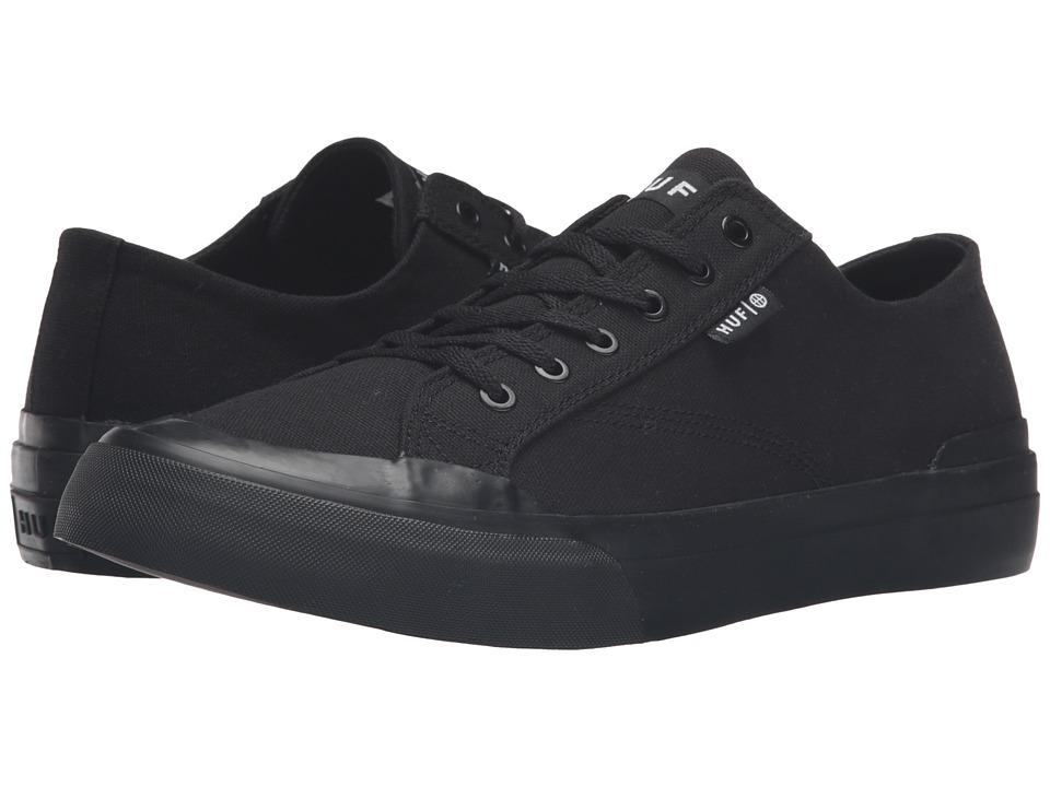 HUF - Classic Lo Ess TX (Black/Black) Mens Skate Shoes