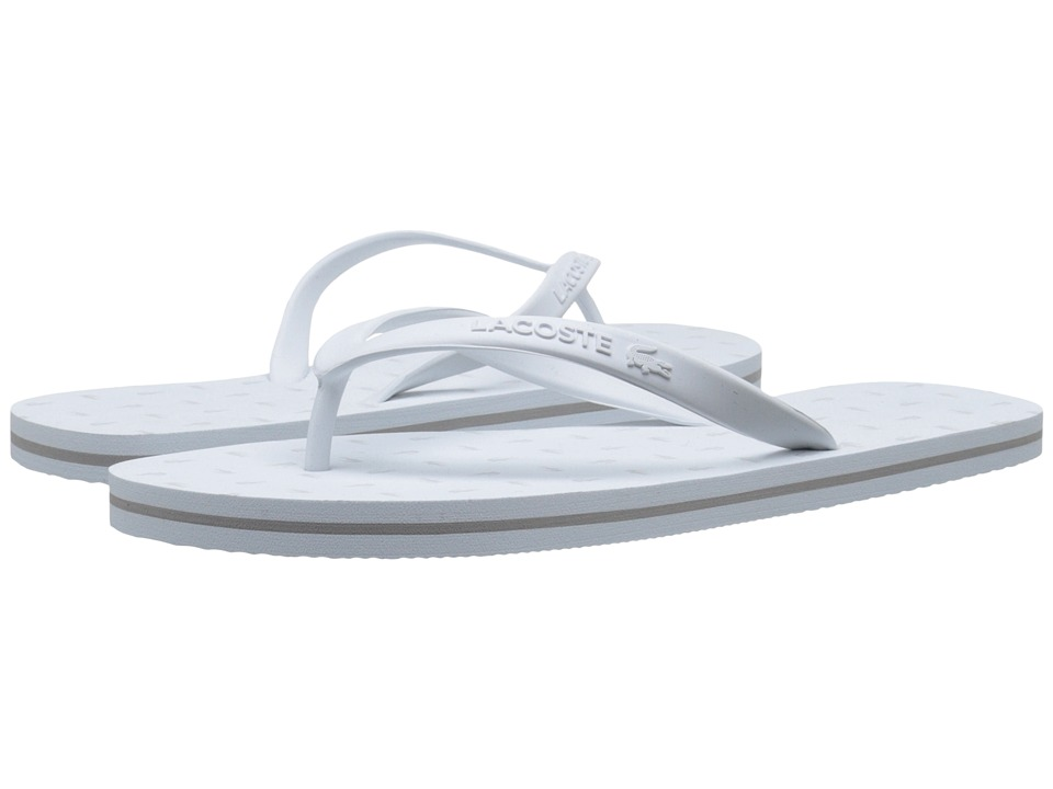 Lacoste Ancelle Slide White/Light Grey Womens Sandals