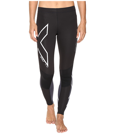 2XU Wind Defence Compression Tights - Black/Steel