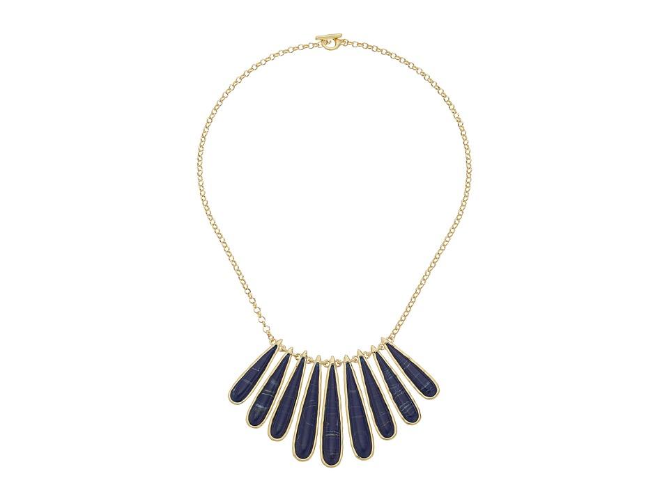 Karen Kane Tidal Wave Statement Collar Necklace Blue Necklace