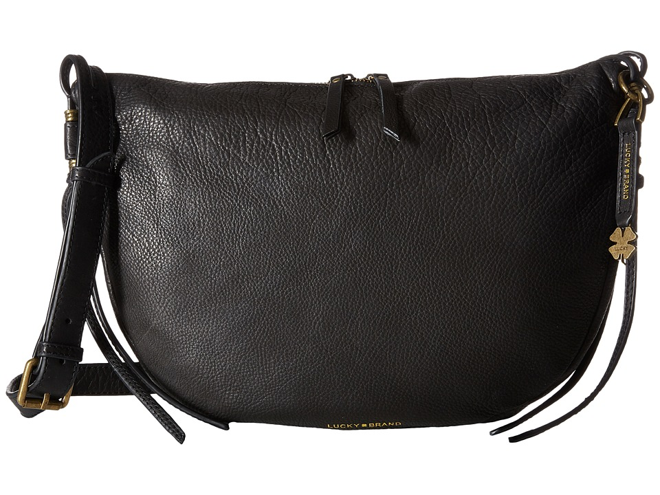 Lucky Brand - Nyla Crescent Hobo (Black) Handbags