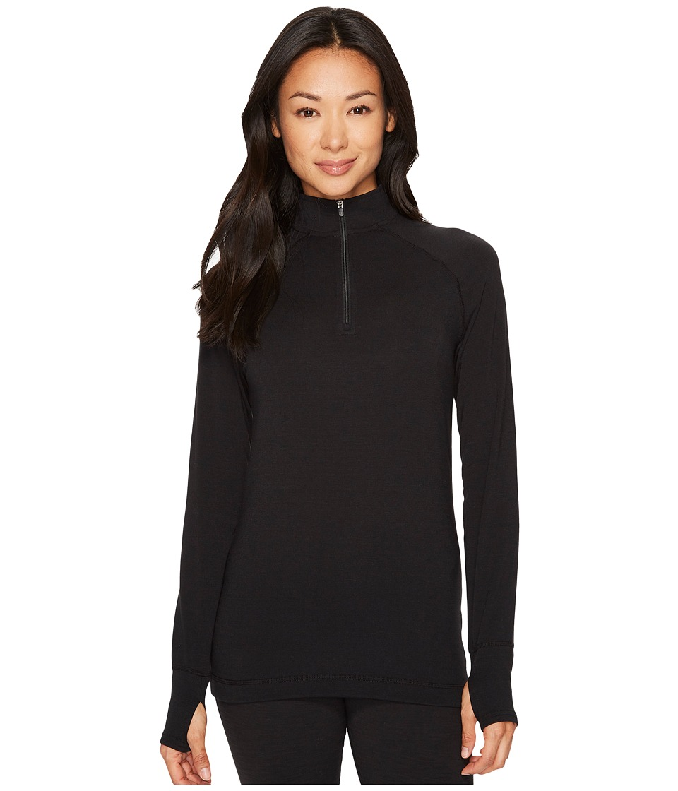Hot Chillys MTF Solid Zip-T (Black) Women