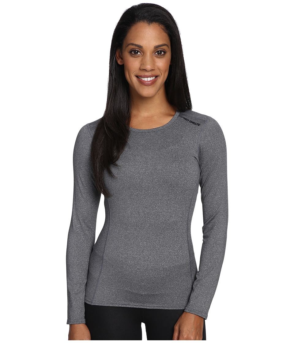 Hot Chillys Micro-Elite Chamois 8K Crew Neck (Granite) Women