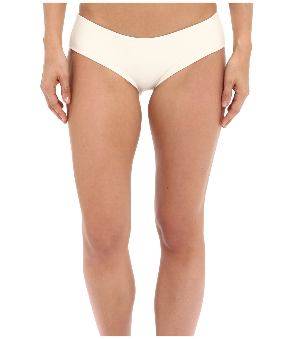 MIKOH SWIMWEAR Bondi Medium Coverage Bottom Bone Womens Swimwear