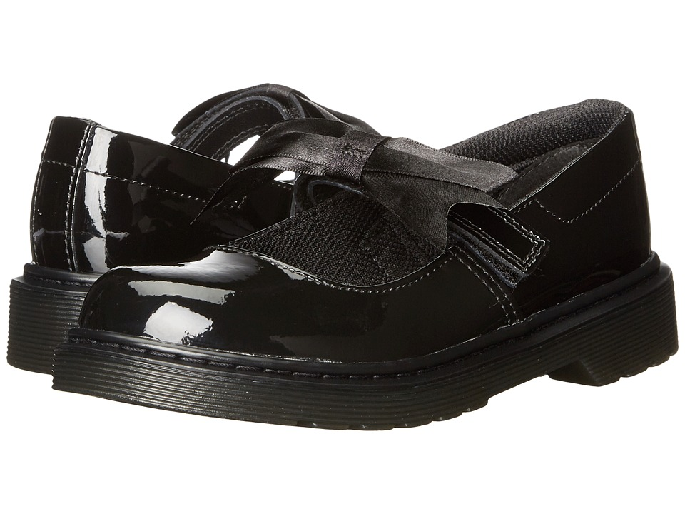 Dr. Martens Kid's Collection Maccy Mary Jane (Little Kid/Big Kid) (Black Patent) Girls Shoes