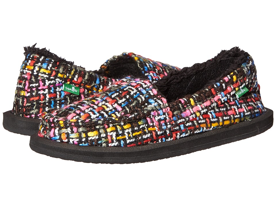 Sanuk - Shor-Knitty (Black Multi Tweed) Women
