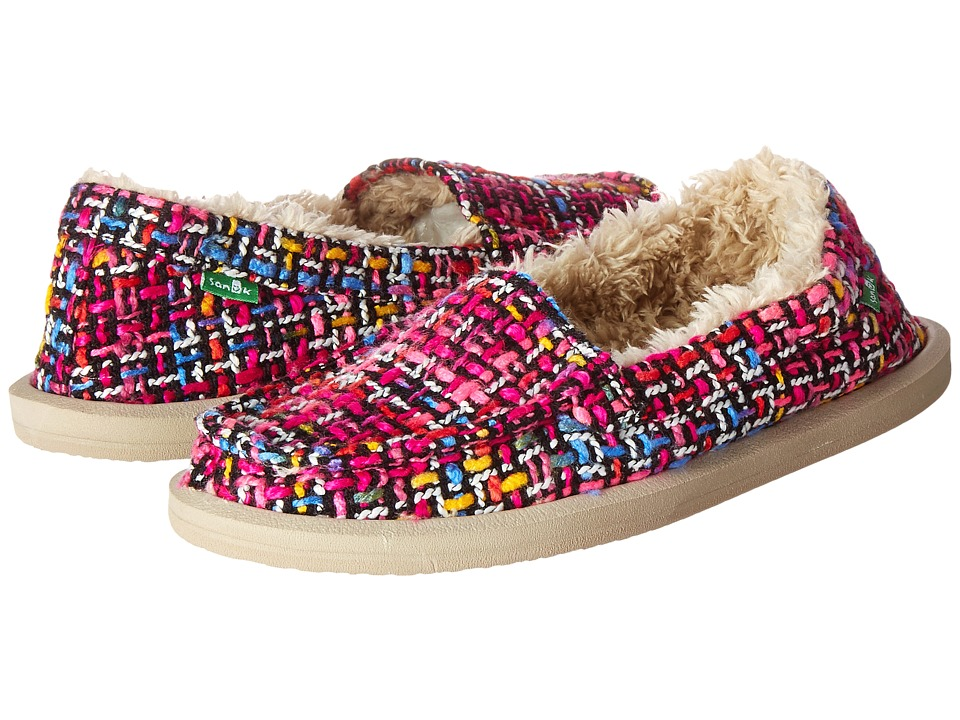 Sanuk - Shor-Knitty (Fuchsia Multi Tweed) Women