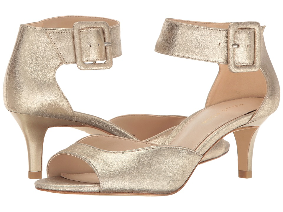 Pelle Moda Berlin (Platinum Gold Metallic Kid Suede) High Heels