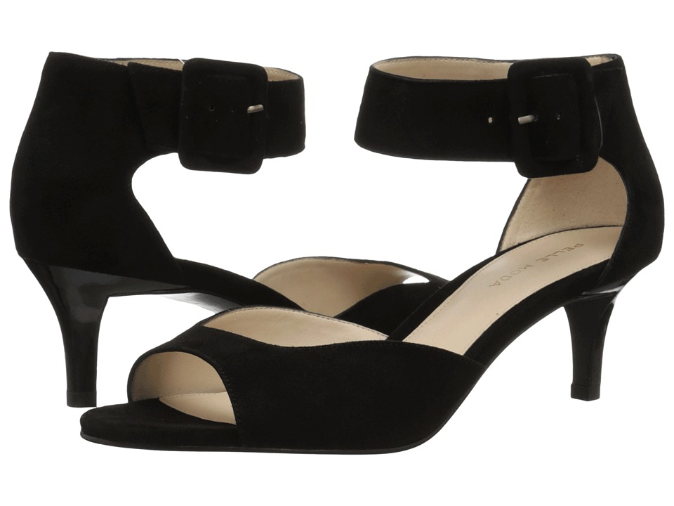 Pelle Moda Berlin (Black Kid Suede) High Heels