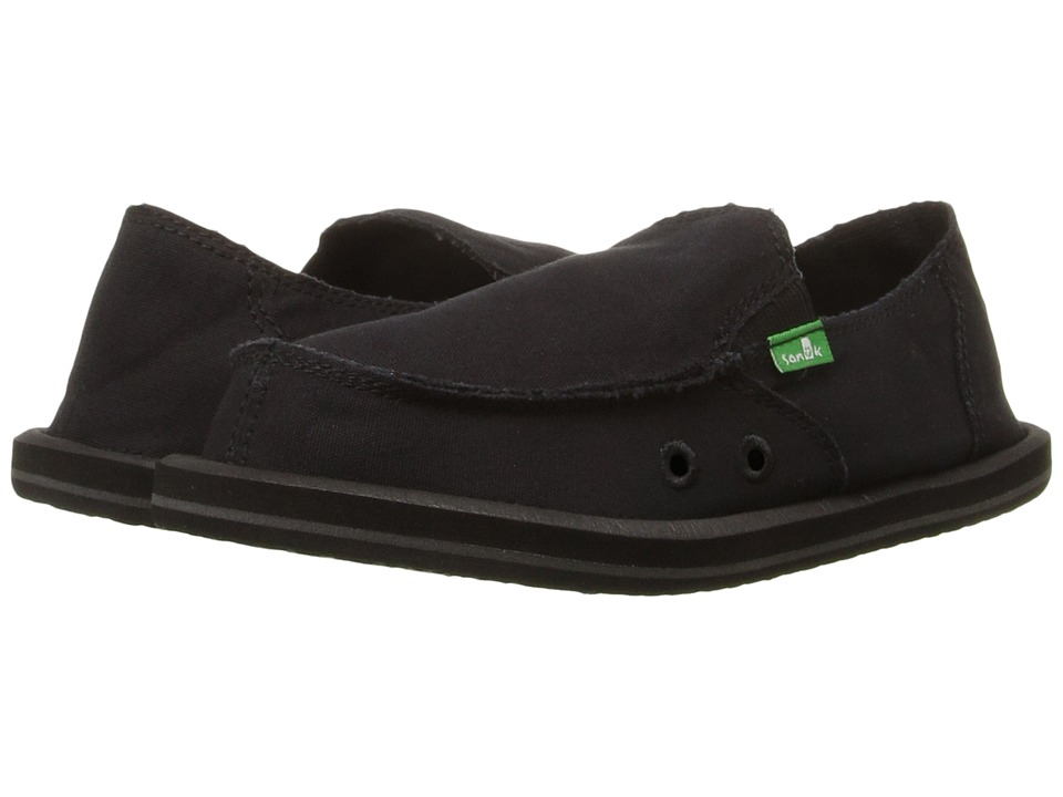 Sanuk Kids - Donny (Little Kid/Big Kid) (Blackout) Boys Shoes