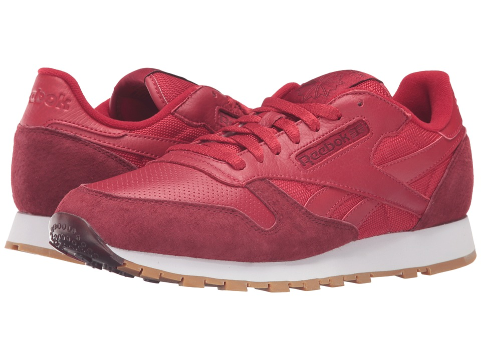 Reebok Lifestyle - Classic Leather SPP (Flash Red/Merlot/White/Gum) Men