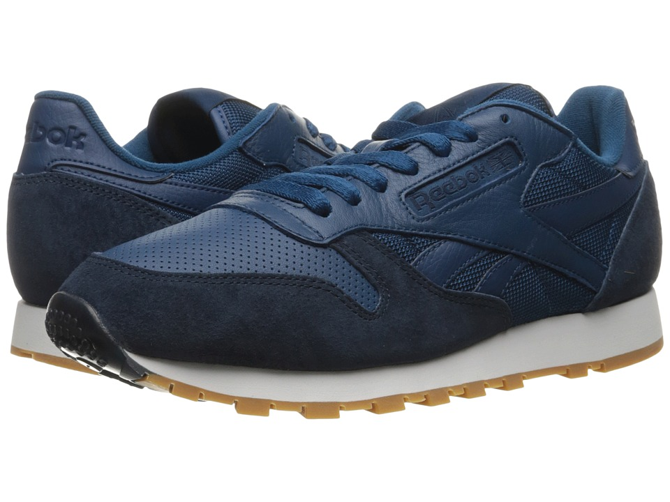 Reebok Lifestyle - Classic Leather SPP (Noble Blue/Collegiate Navy/White/Gum) Men