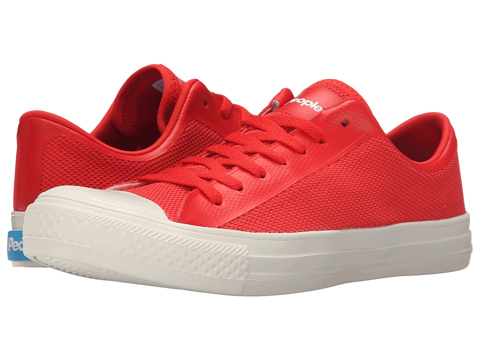 People Footwear Phillips 3D Mesh w/ EVA Supreme Red/Picket White Lace up casual Shoes