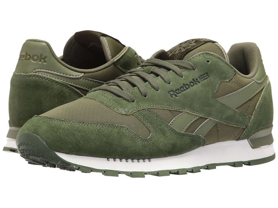 Reebok Lifestyle Classic Leather Clip ELE (Moss Green/Primal Green/Canopy Green) Men