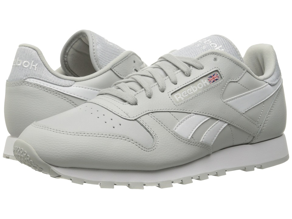 Reebok Lifestyle - Classic Leather Pop (Skull Grey/White) Mens Shoes