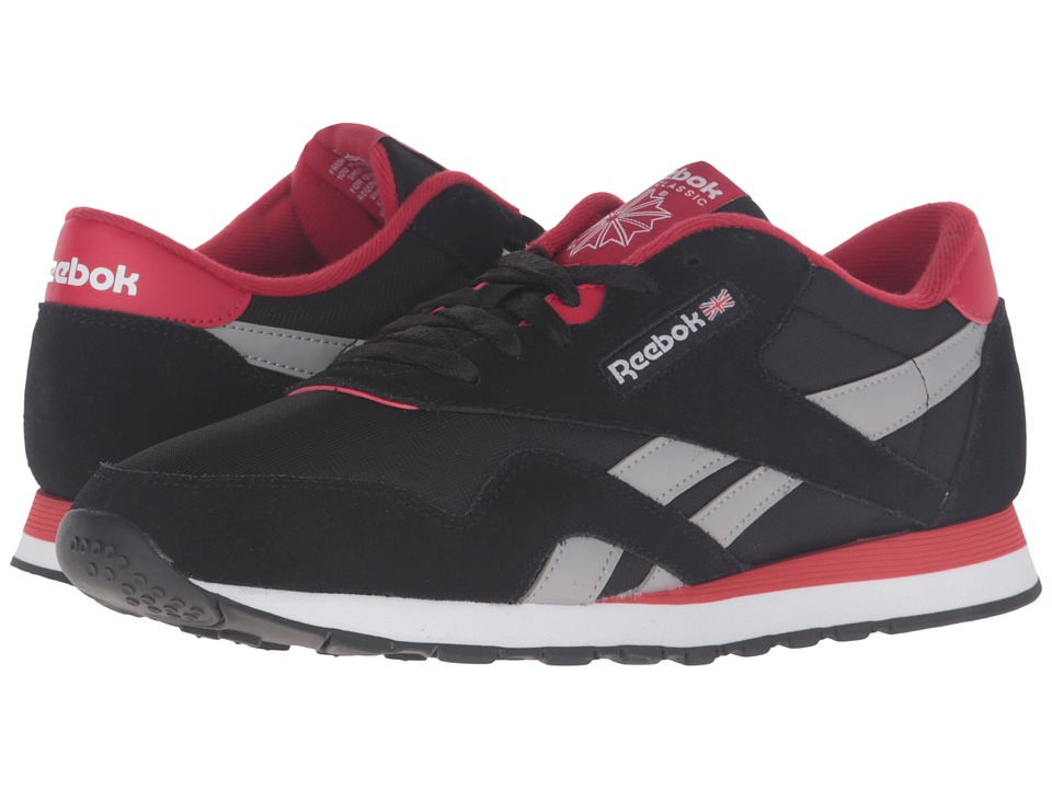 Reebok Lifestyle - Classic Nylon TS (Black/Excellent Red/Medium Grey Heather Solid Grey/White) Men