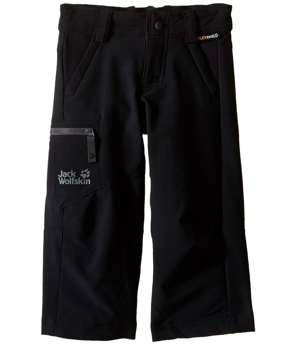 Jack Wolfskin Kids Activate II Softshell Pants Infant/Toddler Black Boys Casual Pants