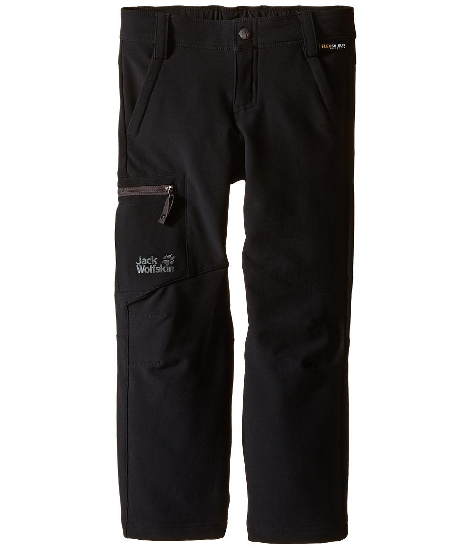 Jack Wolfskin Kids Activate II Softshell Pants Little Kid/Big Kid Black Boys Casual Pants