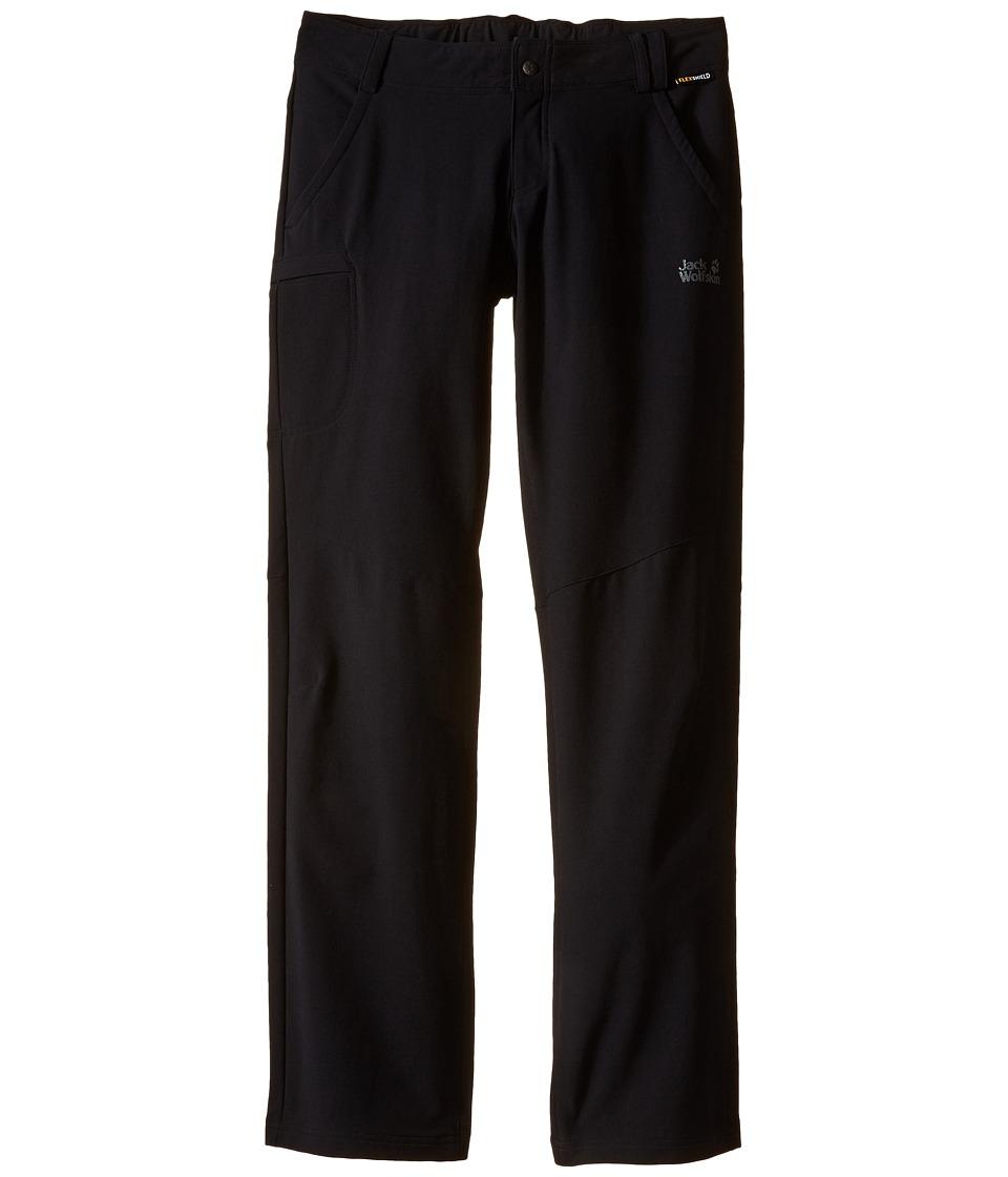 Jack Wolfskin Kids Activate II Softshell Pants Little Kid/Big Kid Black Girls Casual Pants