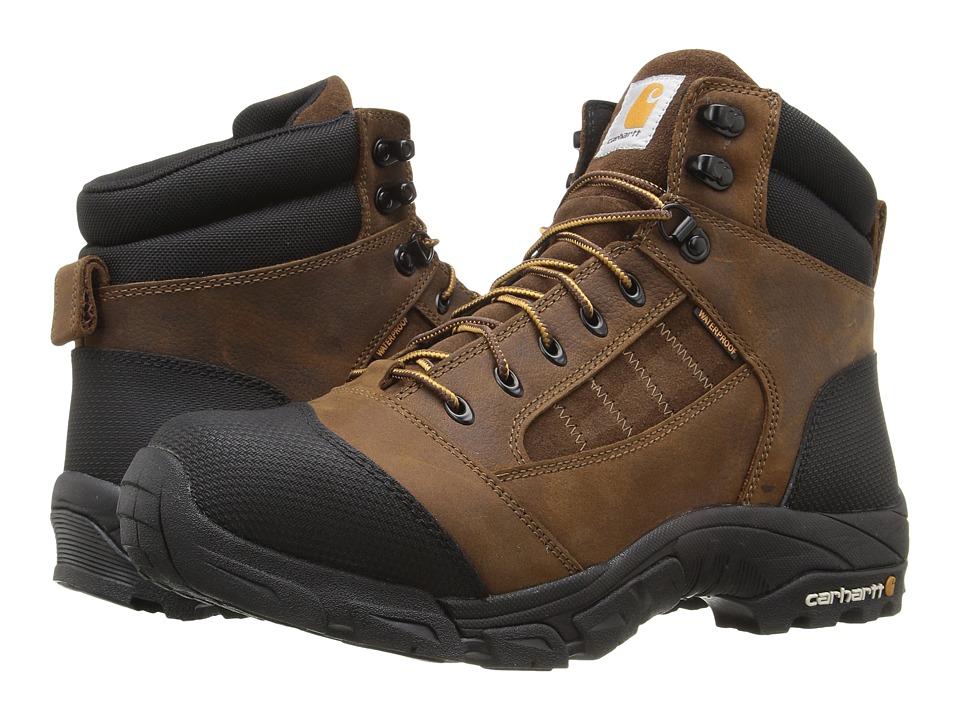 Carhartt Lightweight Waterproof Work Hiker (Brown Oil Tanned Leather) Men