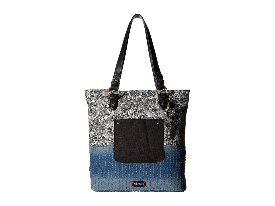 Sakroots - Artist Circle Soft Tote (Black & White Spirit Desert) Tote Handbags