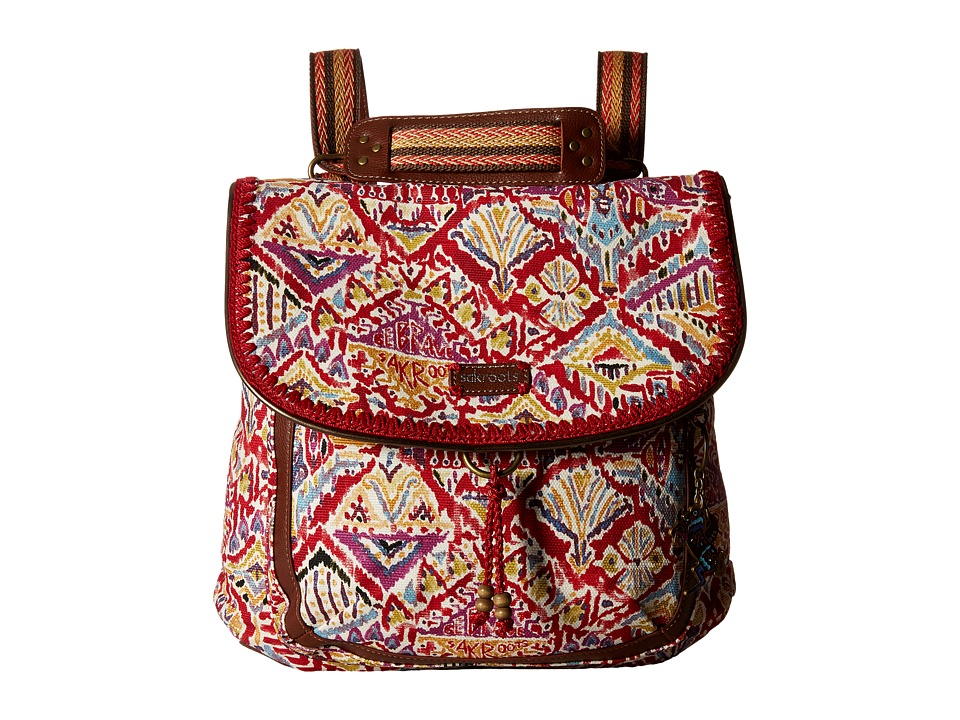 Sakroots - Artist Circle Convertible Backpack (Sweet Red Brave Beauti) Backpack Bags