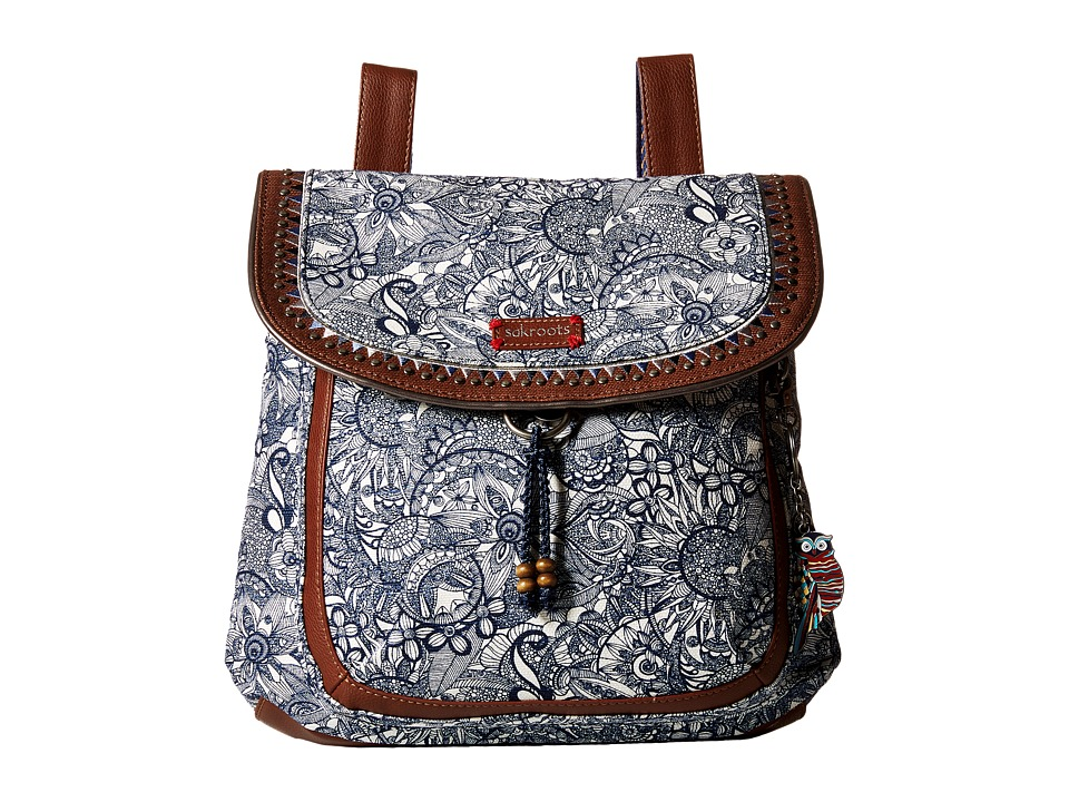 Sakroots - Artist Circle Convertible Backpack (Navy Spirit Desert) Backpack Bags