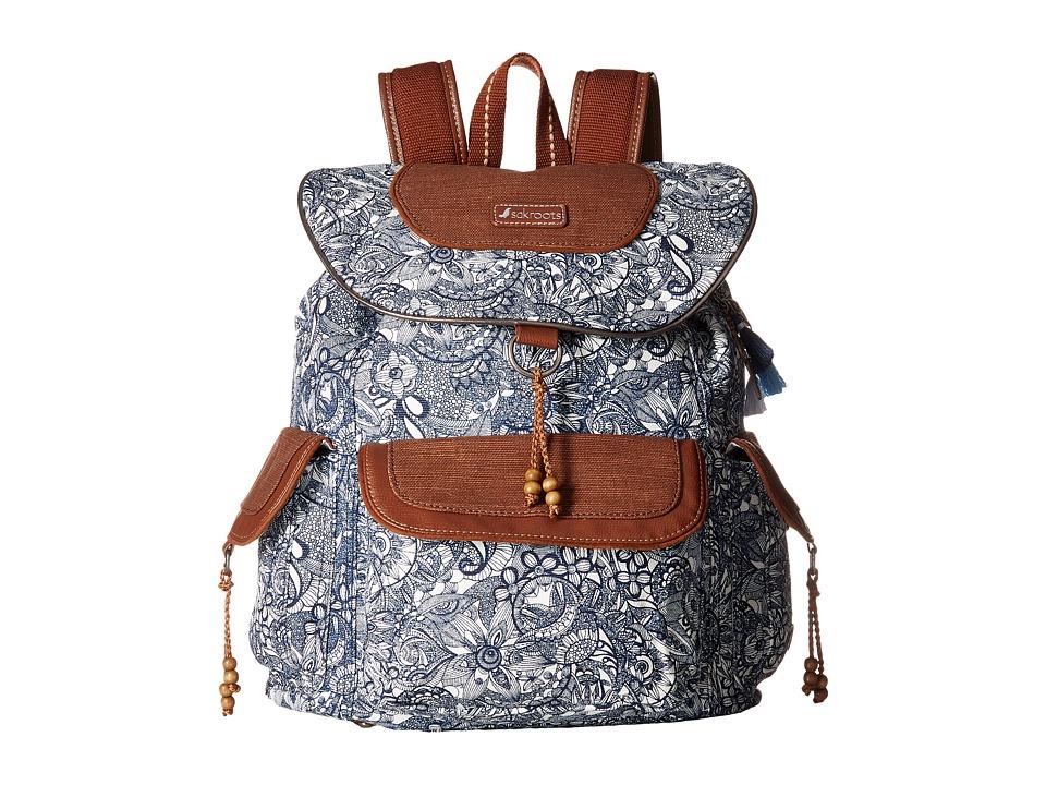 Sakroots - Sakroots Artist Circle Flap Backpack (Navy Spi...