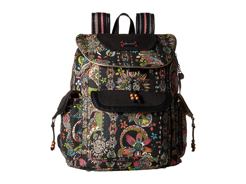 Sakroots - Sakroots Artist Circle Flap Backpack (Neon Spirit Desert) Backpack Bags