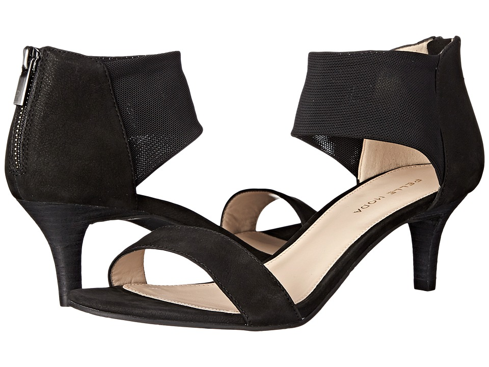 Pelle Moda Eden (Black Nubuck/Stretch Mesh) High Heels