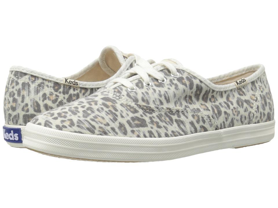 Keds - Champion Jersey Leopard (Leopard) Women