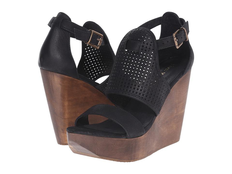 Cordani Dorado Black Nubuck Womens Wedge Shoes