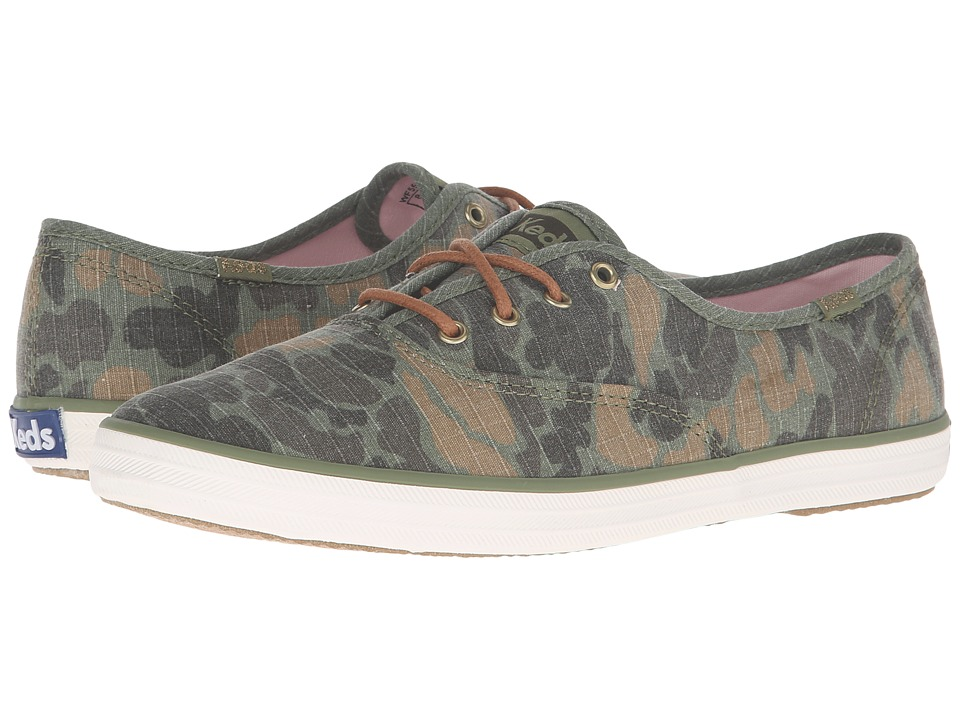 Keds - Champion Camo Ripstop (Olive) Women