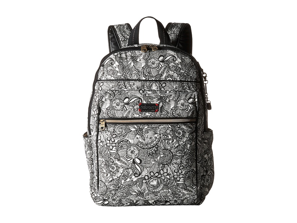 Sakroots - Artist Circle Cargo Backpack (Black & White Spirit Desert) Backpack Bags