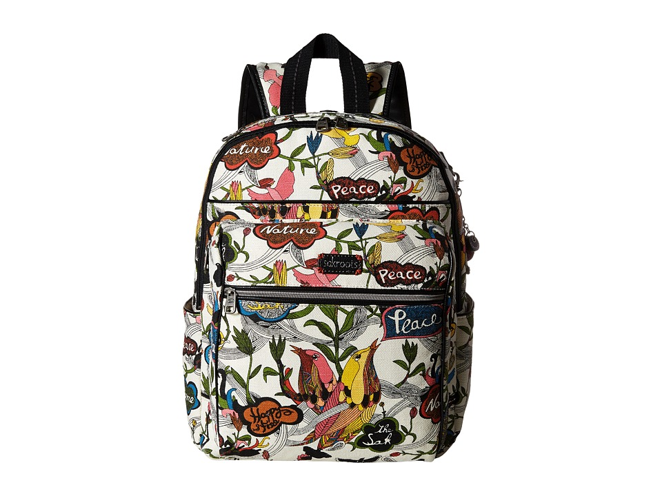 Sakroots - Artist Circle Cargo Backpack (White Peace) Backpack Bags