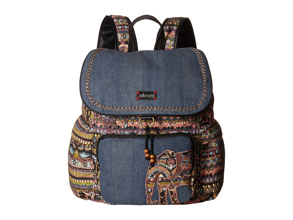 Sakroots - Artist Circle Signature Backpack (Taupe One World) Backpack Bags