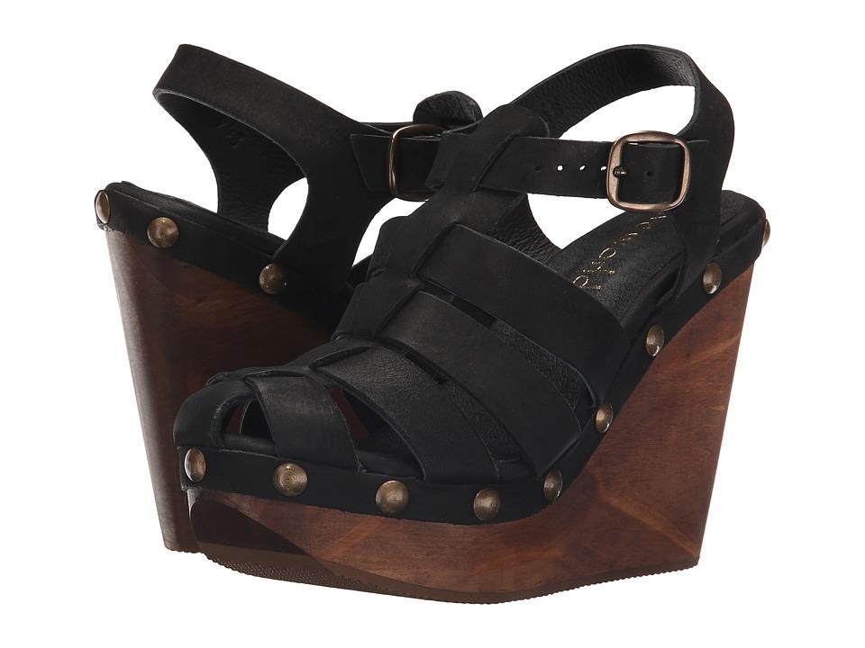 Cordani Duran Black Nubuck Womens Wedge Shoes