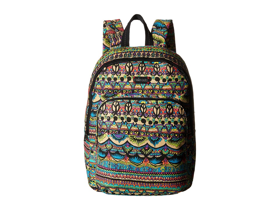 Sakroots - Artist Circle Medium Backpack (Radiant One World) Backpack Bags