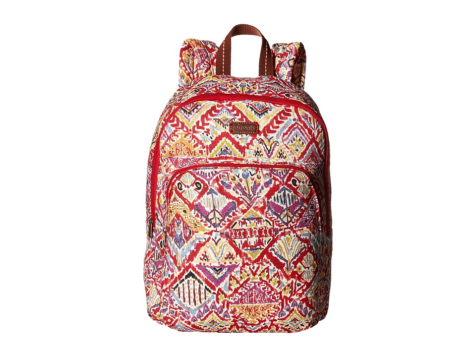 Sakroots - Artist Circle Medium Backpack (Sweet Red Brave Beauti) Backpack Bags