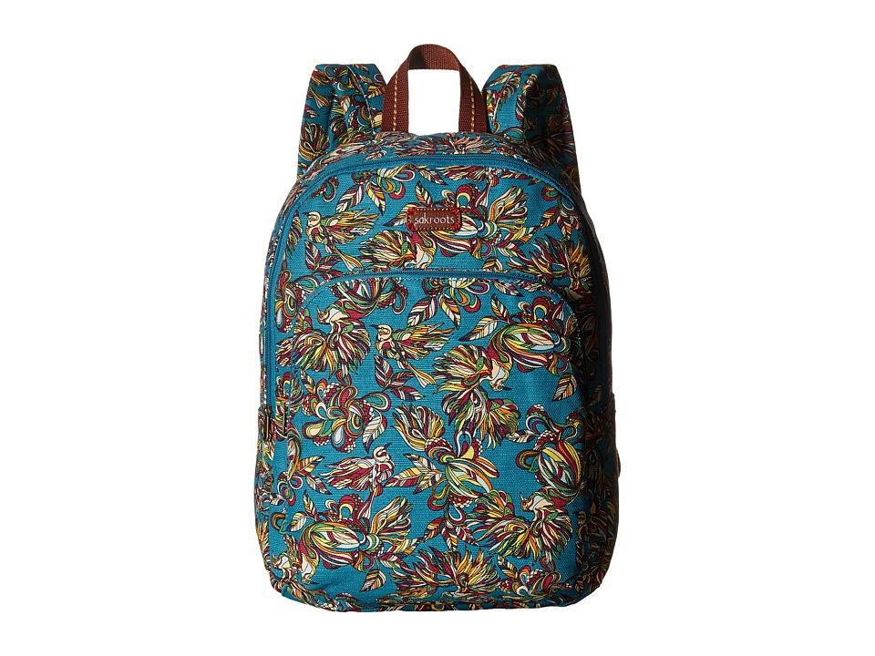 Sakroots - Artist Circle Medium Backpack (Teal Treehouse) Backpack Bags