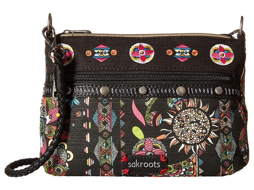 Sakroots - Artist Circle Campus Mini (Neon Spirit Desert) Cross Body Handbags