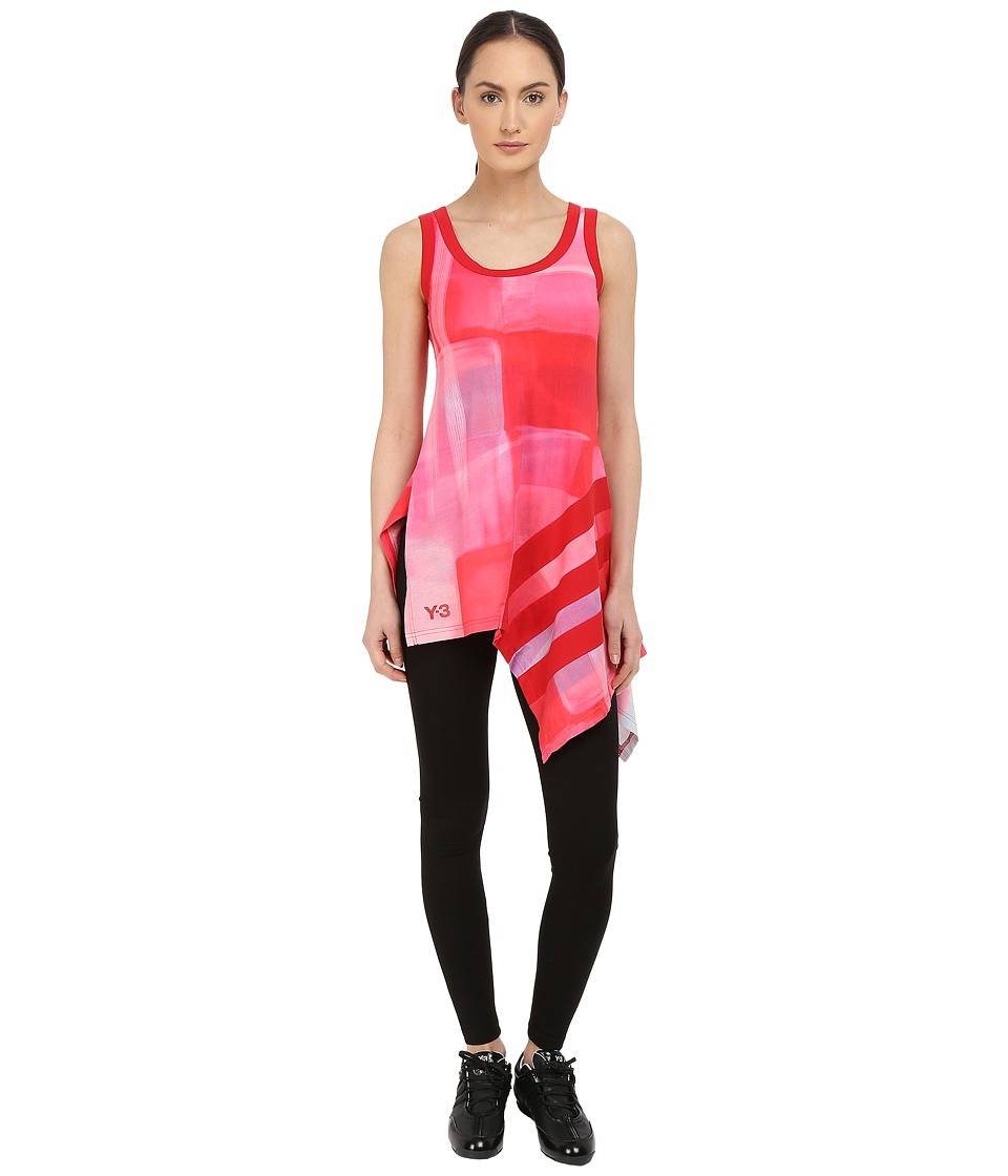 adidas Y 3 by Yohji Yamamoto Aop Stripe Tank Top Aop Liquid Womens Sleeveless